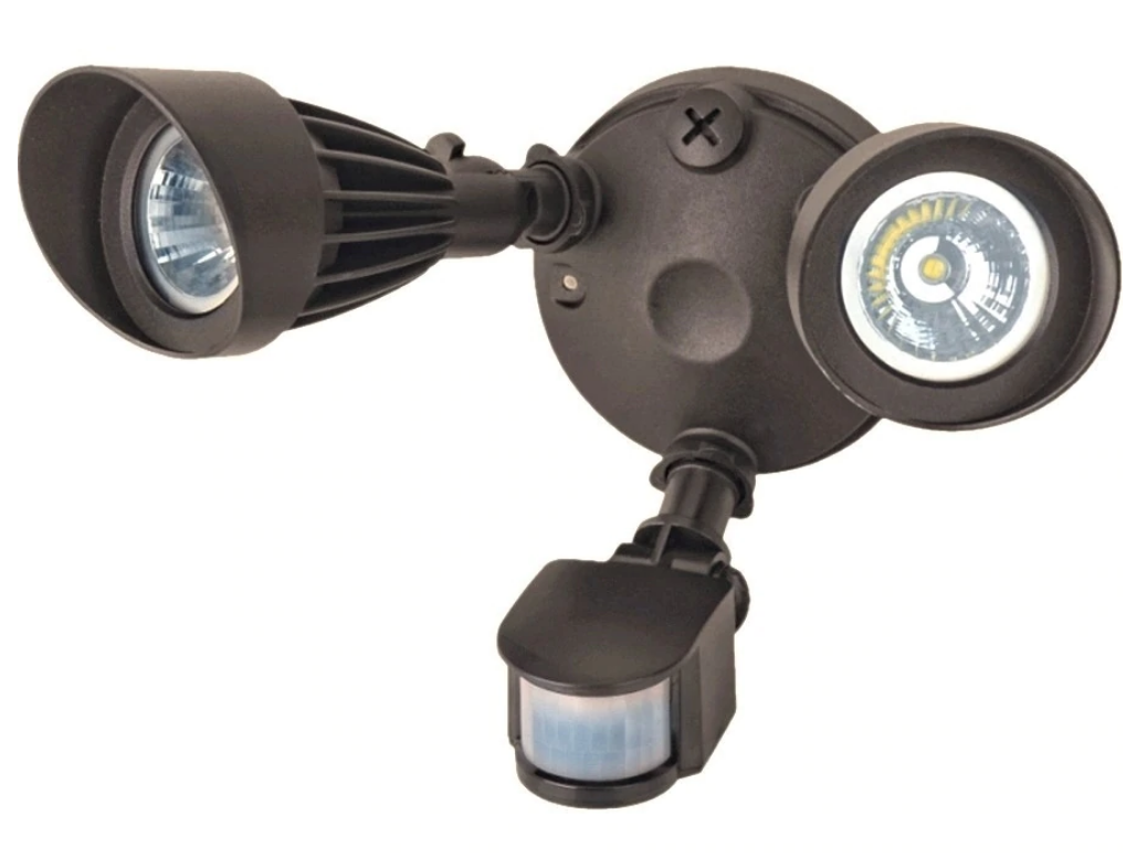 Bronze Security Lights with Sensor – Two Heads