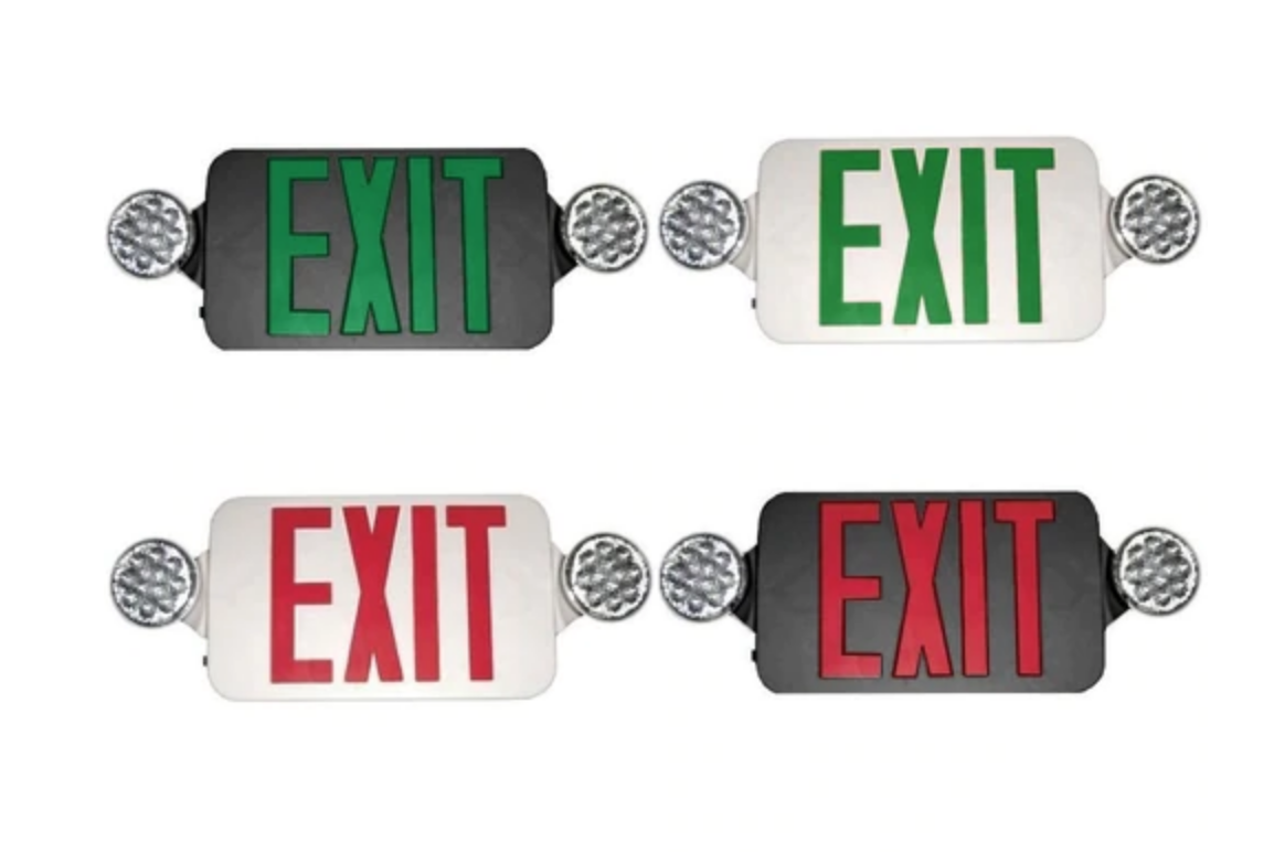 Low Profile LED Exit & Emergency Combo
